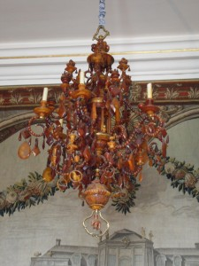 An Amber Chandelier